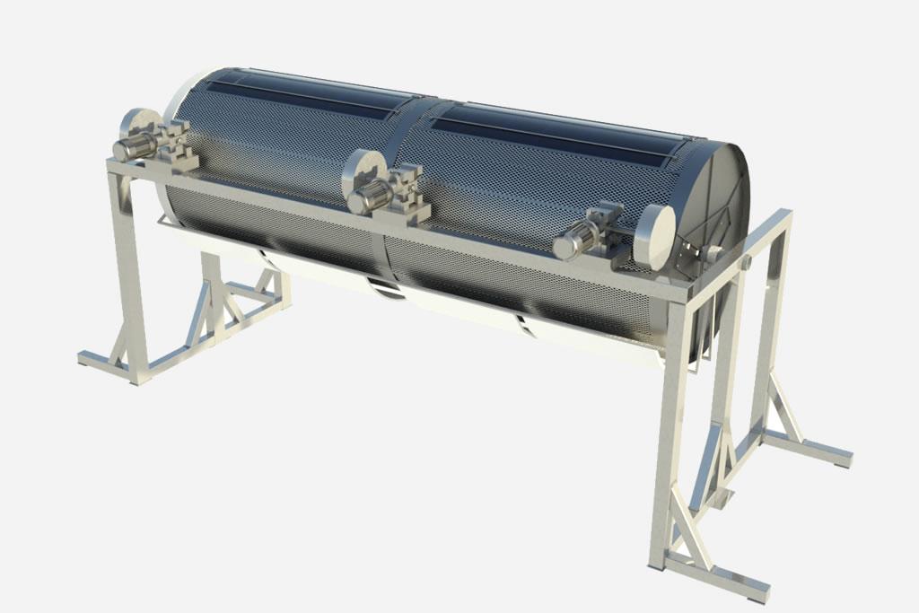 Secadero horizontal por infrarrojo lejano