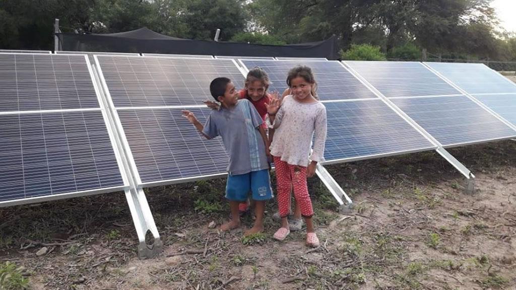 Quedó inaugurada la obra de bombeo solar para la comunidad de Piruj Bajo, Copo, provincia de Santiago del Estero
