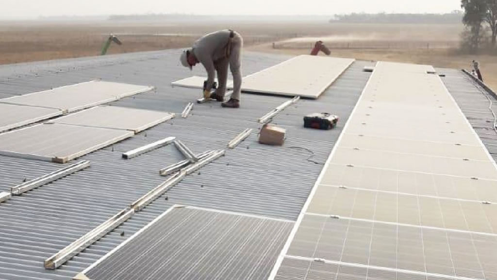 Instalación de 45 paneles solares en la provincia de Santiago del Estero